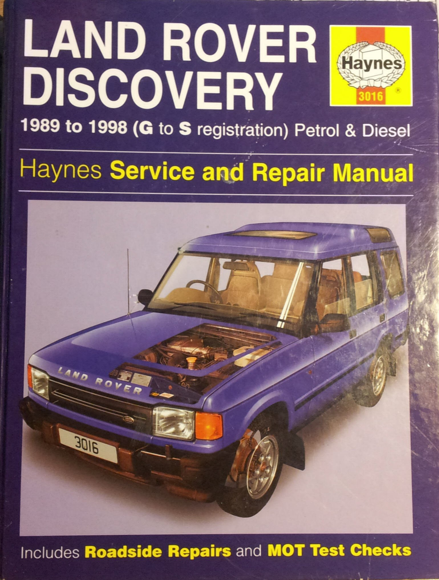 Land Rover Discovery Diesel Service and Repair Manual (Haynes Service and Repair  Manuals): Amazon.co.uk: Steve Rendle, Mark Coombs: 9781859601839: Books