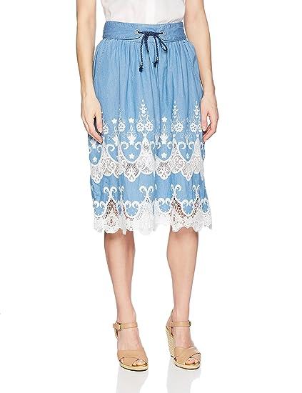 Desigual Falda Mujer Azul: Amazon.es: Ropa y accesorios