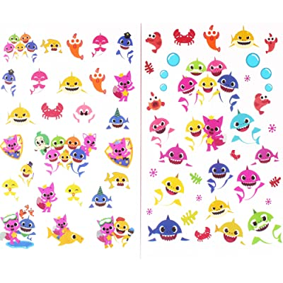 ALBABE Shark Party Supplies Temporary Tattoos for Kids Tattoos Party Favors Birthday Party Decorations: Toys & Games