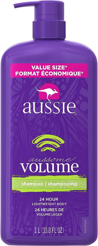 Aussie Aussome Volume Shampoo with Pump, 33.8 Fluid Ounce