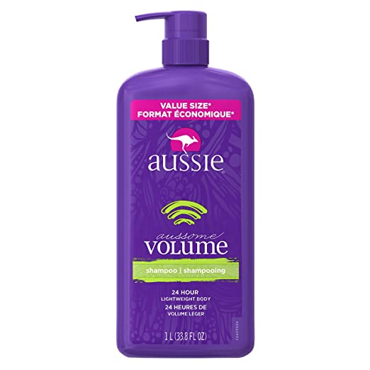 Guide to the Best Shampoo for Each Hair Type | Aussie Aussome Volume Shampoo with Pump | Hairstyle on Point