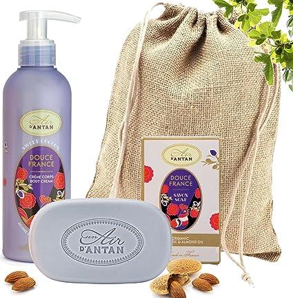 Un Air dAntan Caja Belleza Douce Mujer – 1 Jabon 100g, 1 Crema Corporal Hidratante 200ml |Perfume Original Almendras Dulce, Higo y Vetiver|Navidad ...