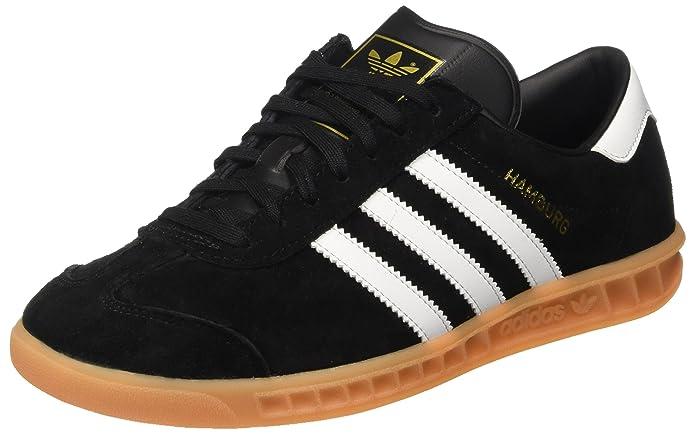 Adidas Hamburg Sneaker Herren Schwarz mit weißen Streifen