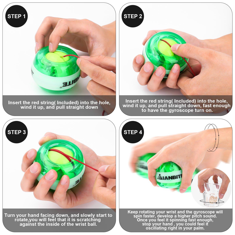 Handgelenk Ball Gyroskop Handgelenk und Unterarm Trainingsger/ät Nagelh/ärter Ball Power Force Ball