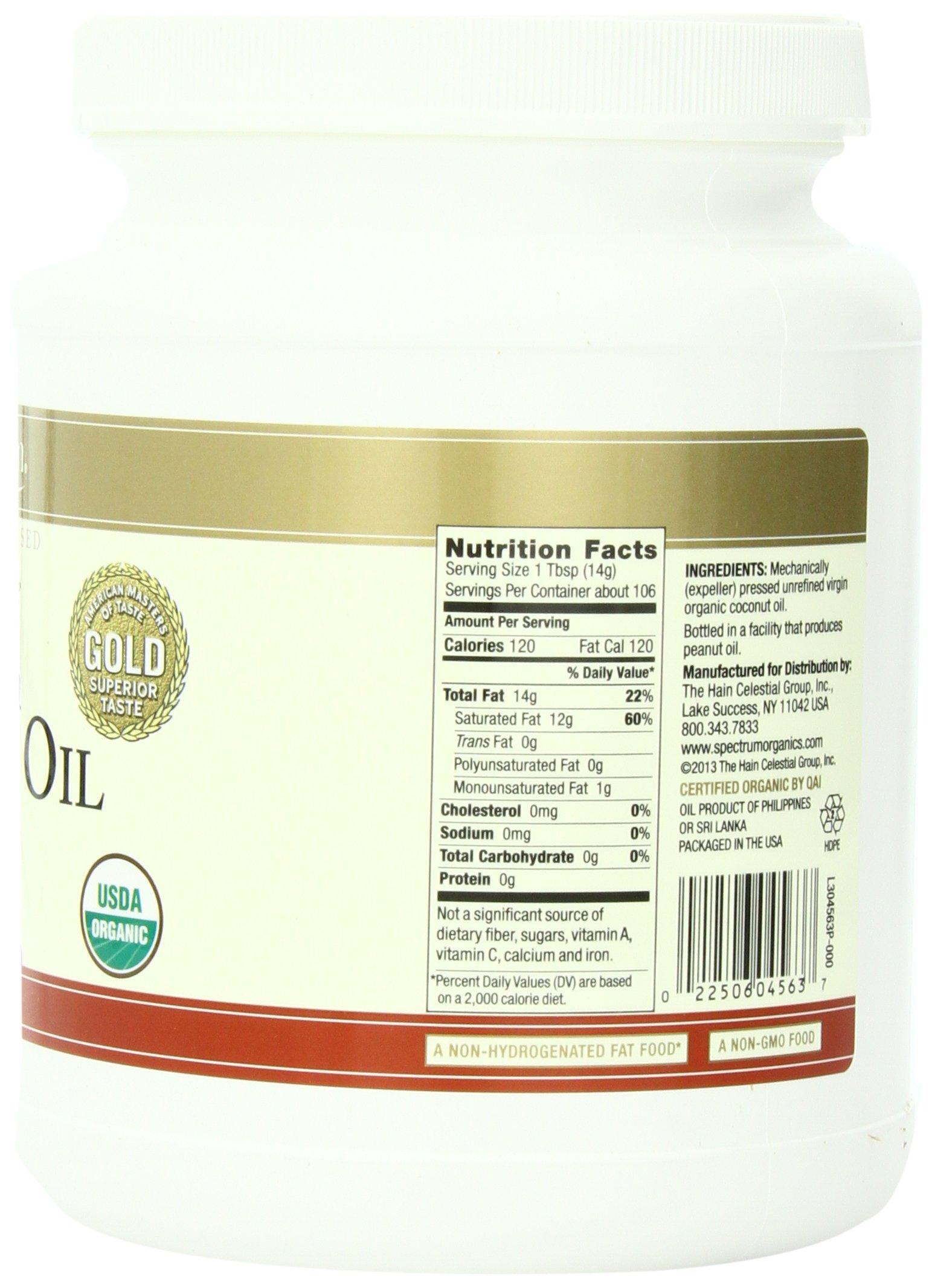 Spectrum Organic Coconut Oil for Cooking, Virgin, Unrefined, 54 fl. oz. by Spectrum (Image #6)