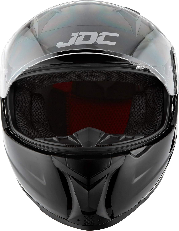 PRISM Fluoreszierendes Gelb JDC volles Gesicht Motorrad Helm XS