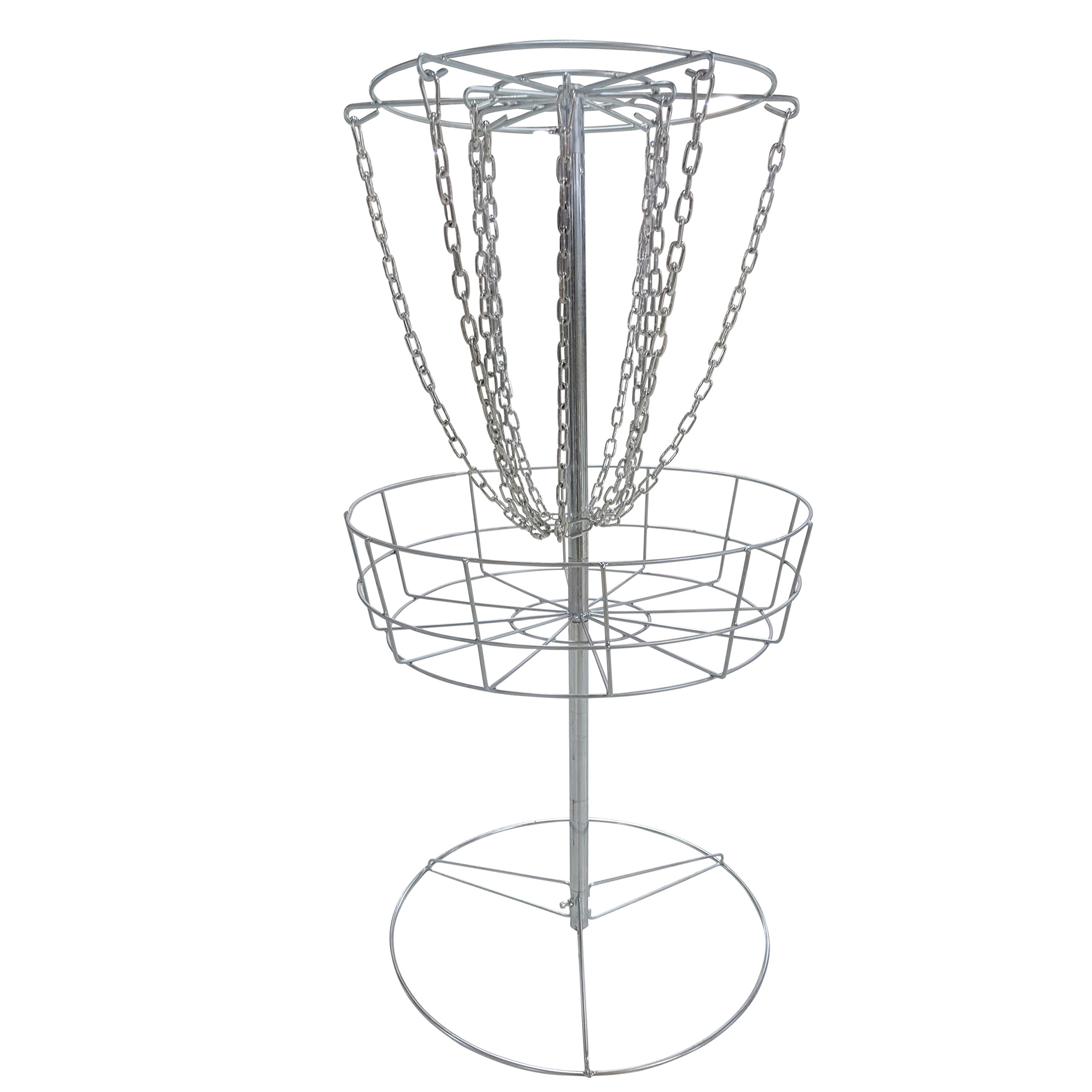 Titan Disc Golf Basket Double Chains Portable Practice Target Steel Frisbee Hole | V2