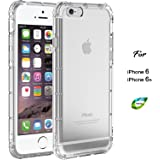 ASAKUKI Protective iPhone 6s 6 Case, Full Screen Protection for Smart Phones, Eco-Friendly and Non-Toxic TPU Material, Air Cushioned Corner Design, Shock Absorption Technology iPhone 6s 6 Clear Case