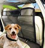 PAWOAH Pet Dog Car Net Barrier Backseat Mesh for Vehicle,Keep Pets Off the Front Seat Fit Cars/Vans/SUV's/Trucks(115X62CM)