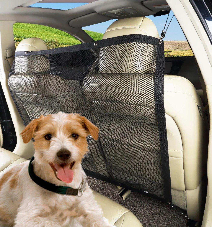 PAWOAH Pet Dog Car Net Barrier Backseat Mesh for Vehicle,Keep Pets Off the Front Seat Fit Cars/Vans/SUV's/Trucks(115X62CM)
