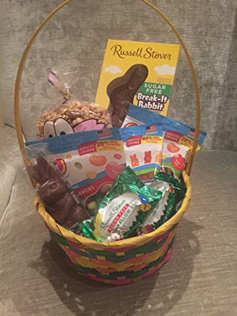Amazon sugar free easter bunny basket with chocolate and candy sugar free easter bunny basket with chocolate and candy all beautifully wrapped and ready to give negle Images
