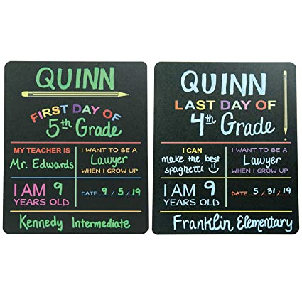 custom product solutions reusable first last day of school chalkboard sign photo prop board