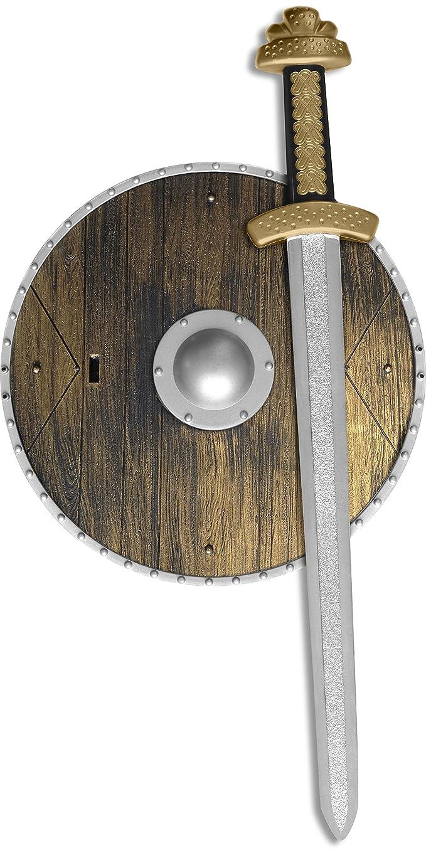 Smiffy's - AC1381  - Set chevalier avec bouclier et epee enfant 20 cm diam