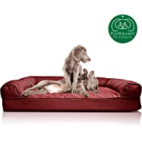 Furhaven Pet Dog Bed | Orthopedic Sofa-Style Traditional Living Room Couch Pet Bed w…