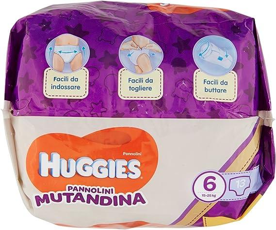 Huggies Pannolini Mutandina s Pa/ñal Ni/ño//ni/ña, Pa/ñal desechable, 15 kg, 25 kg, Multicolor, 30 pieza