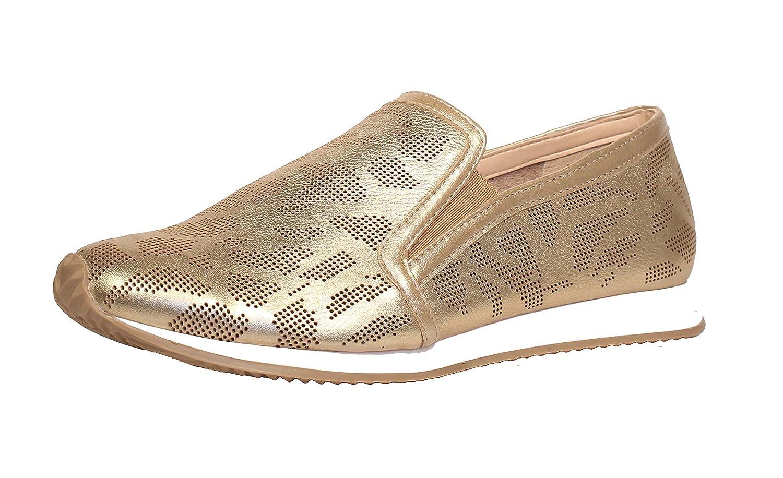 Chelsea Crew Moto Slip-on Fashion Sneaker, Gold