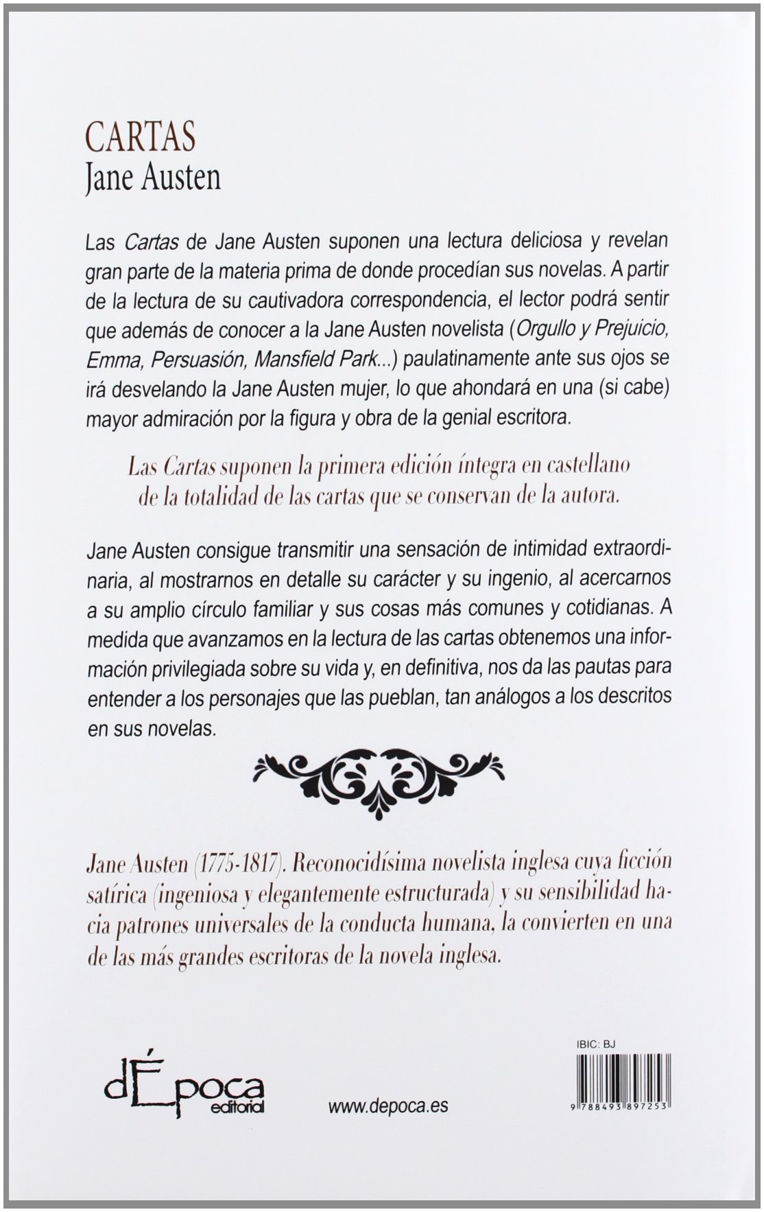 Cartas (Lettere De Epoca (depoca)): Amazon.es: Jane Austen ...