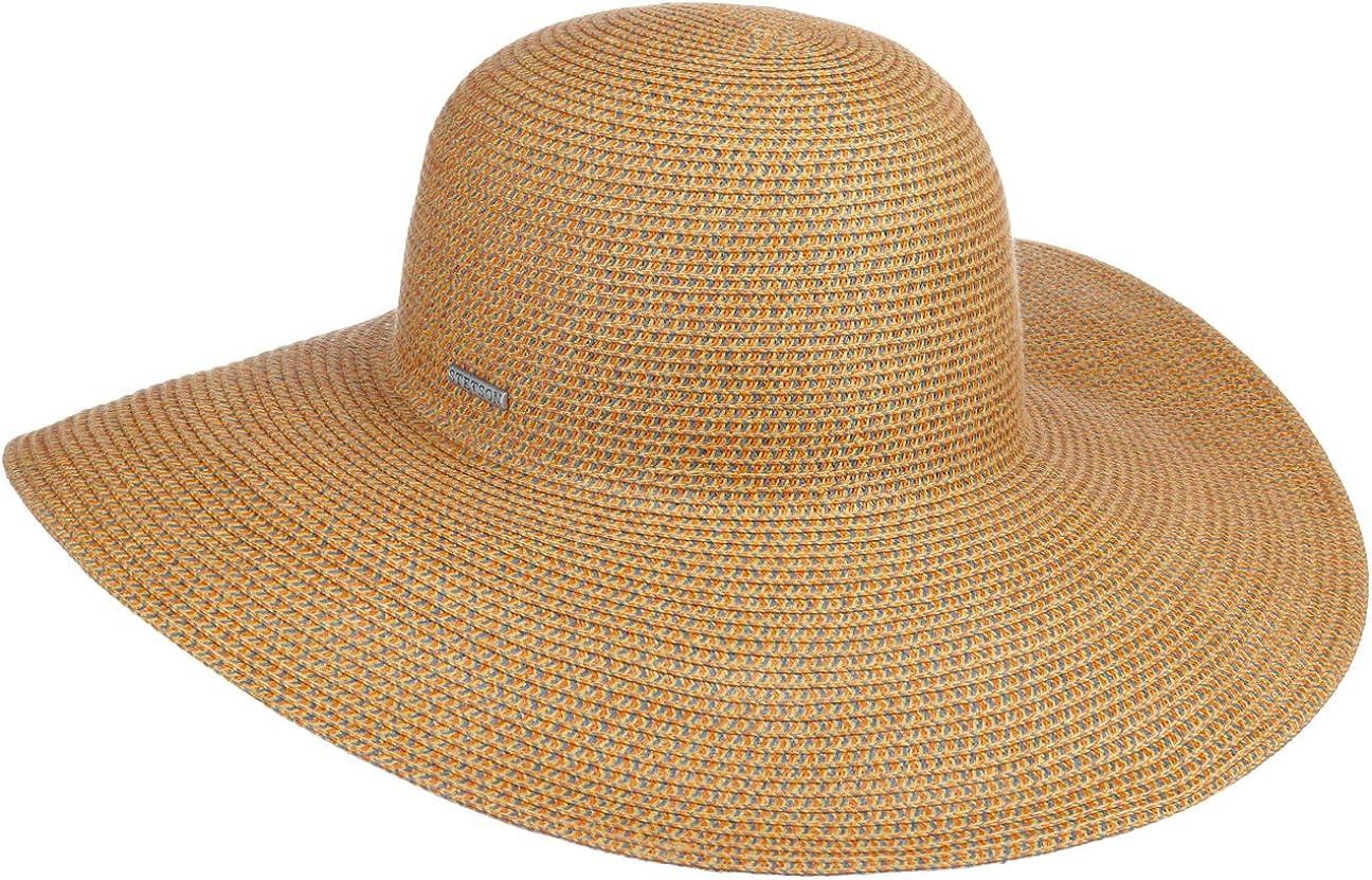 Stetson Sombrero de ala Ancha Fiorella Mujer - Sol Verano Playa Primavera/Verano