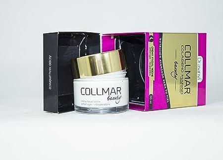 Amazon.com: COLLMAR Beauty Cream with Hydrolysed Marine Collagen, Hyaluronic Acid, Vitamin C, Biotin, Evening Primrose oil, Borage oil and Pomegranate 60 ml ...