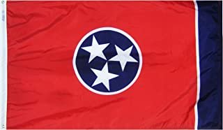 product image for Annin Flagmakers Model 145160 Tennessee State Flag 3x5 ft. Nylon SolarGuard Nyl-Glo 100% Made in USA to Official State Design Specifications.