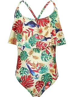 Arshiner Toddler Girls Stripes Bathing Suits One Piece Swimwear