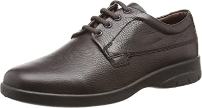 Padders DEXTER Mens Leather Lace Extra Wide Plus Shoes Brown