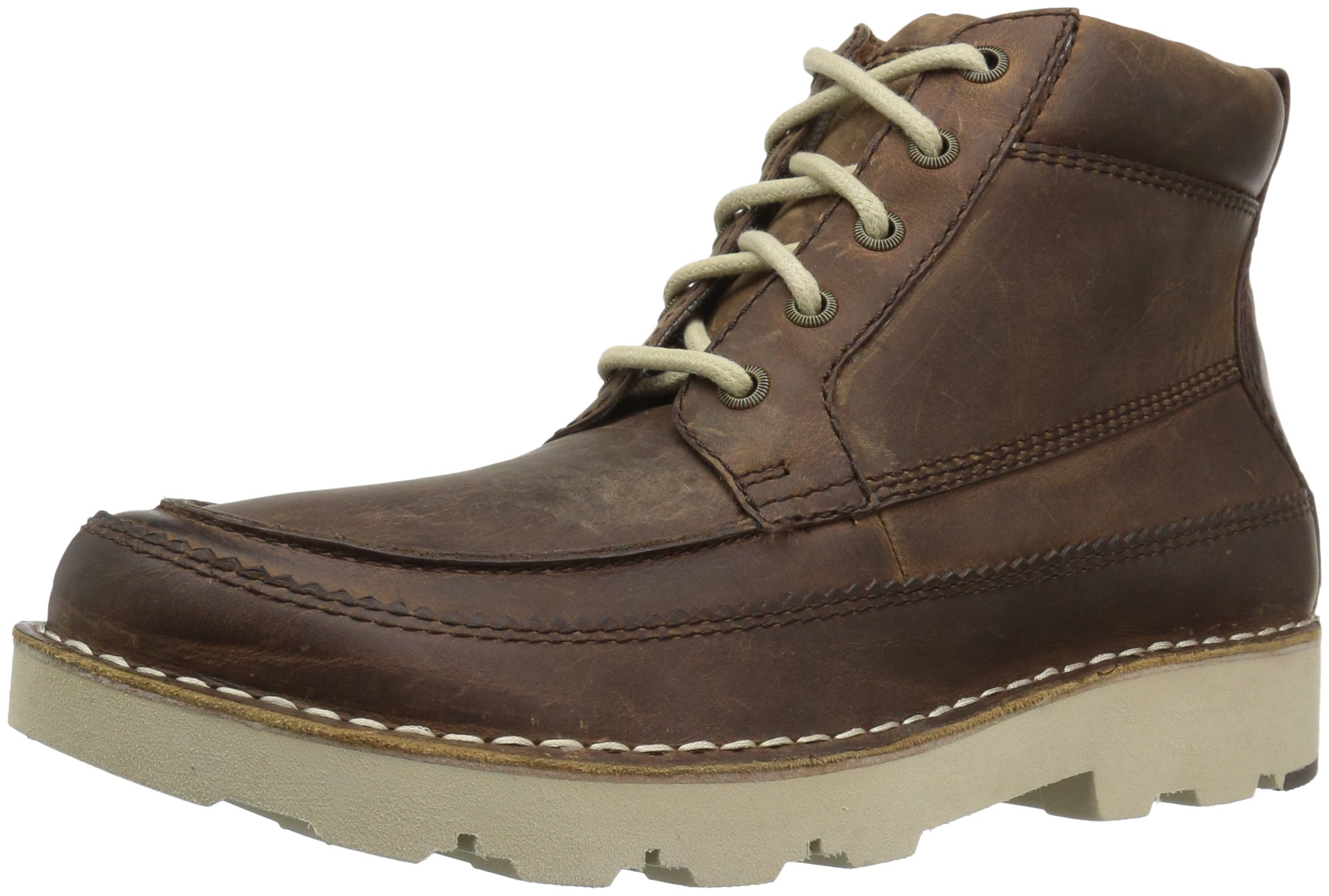 206 Collective Men's Pioneer Moc-Toe Lace-up Boot, Brown, 9 D US