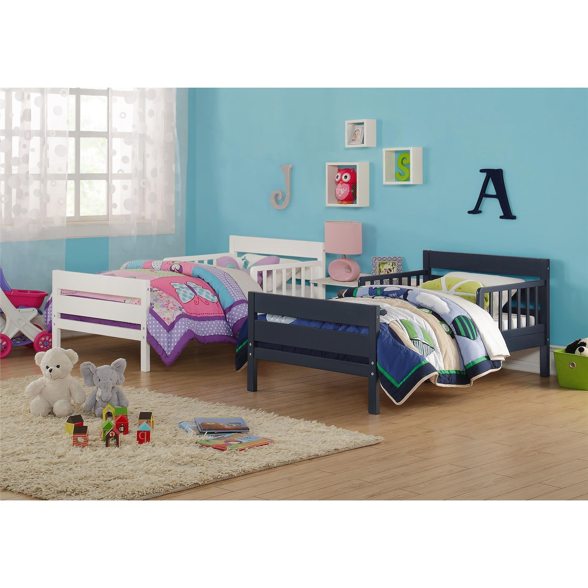 Baby Relax Cruz Toddler Bed, Graphite Blue