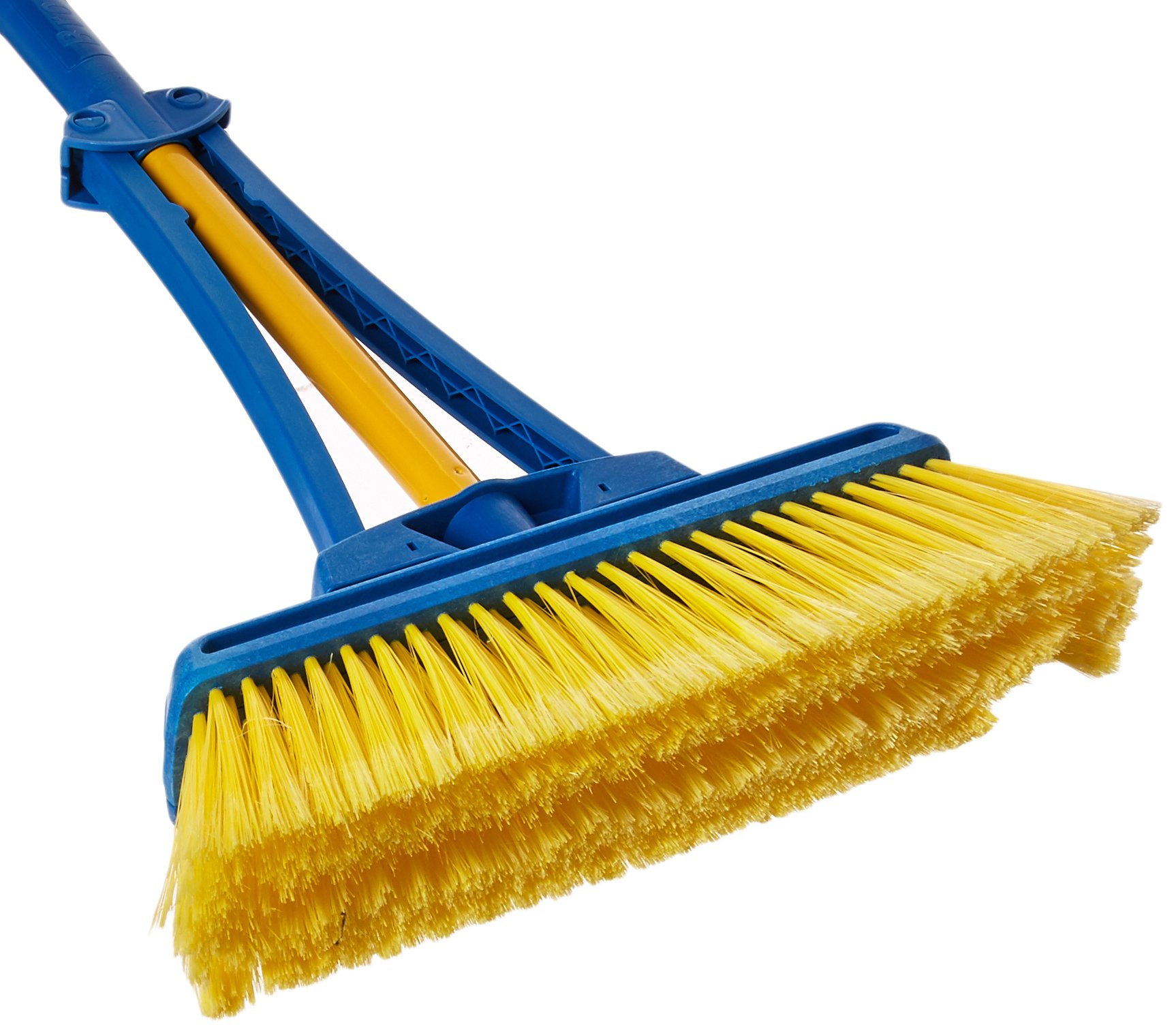 BroomX Expandable 13.5-21'' Expandable Broom, Yellow/Blue