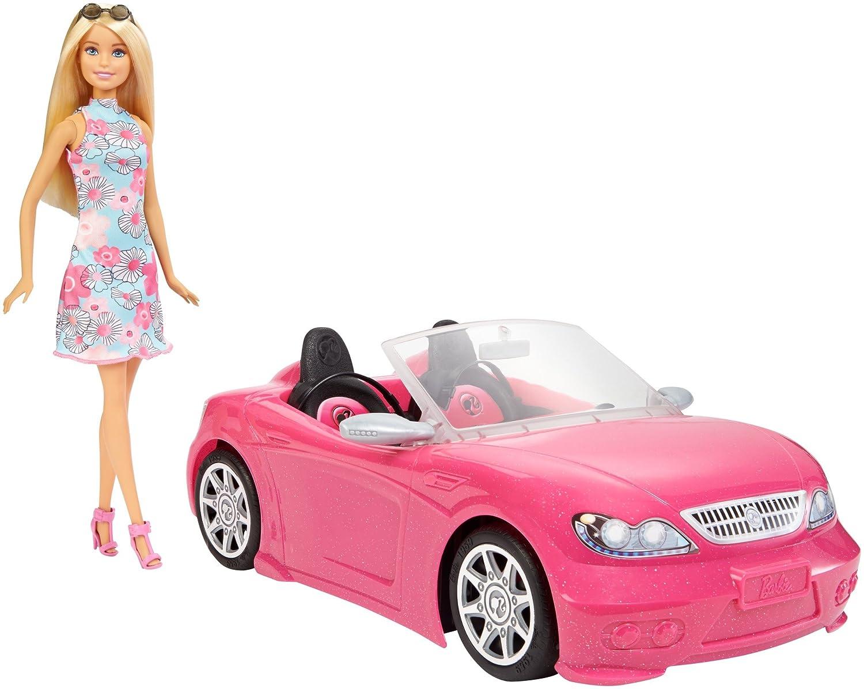 Barbie Mattel FPR57 Poupée Voiture Cabriolet Rose