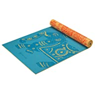 "Gaiam Yoga Mat - Premium 6mm Print Reversible Extra Thick Exercise & Fitness Mat for All Types of Yoga, Pilates & Floor Exercises (68"" x 24"" x 6mm Thick)"