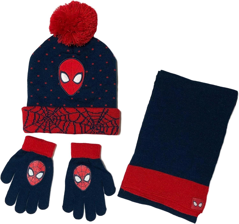 Marvel Amazing Spider-Man Boy/'s Warm Winter Beanie Hat /& Scarf 2 Pcs set NWT