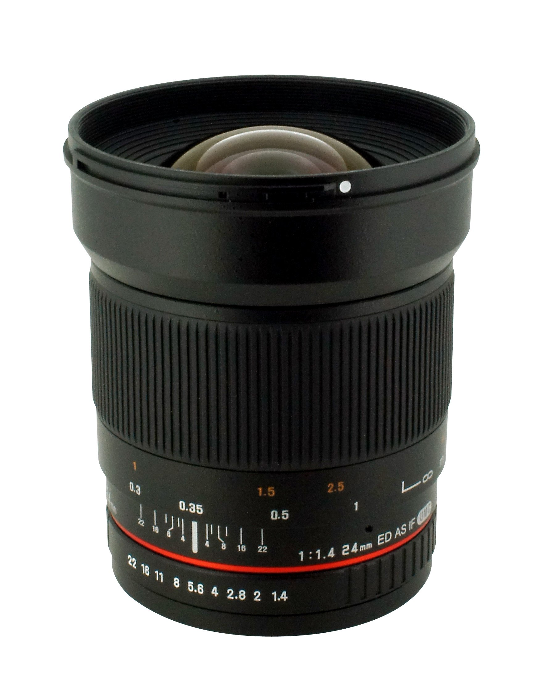 Rokinon 24mm F/1.4 Aspherical Wide Angle Lens for Canon RK24M-C by Rokinon