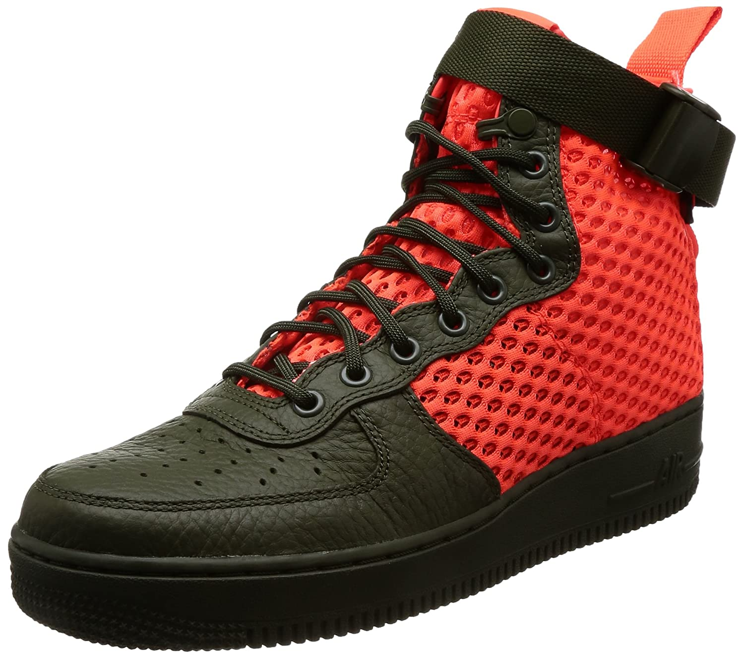 low priced c063b 2dd9f Amazon.com   NIKE Mens SF AF1 Mid QS Cargo Khaki Crimson Leather   Shoes