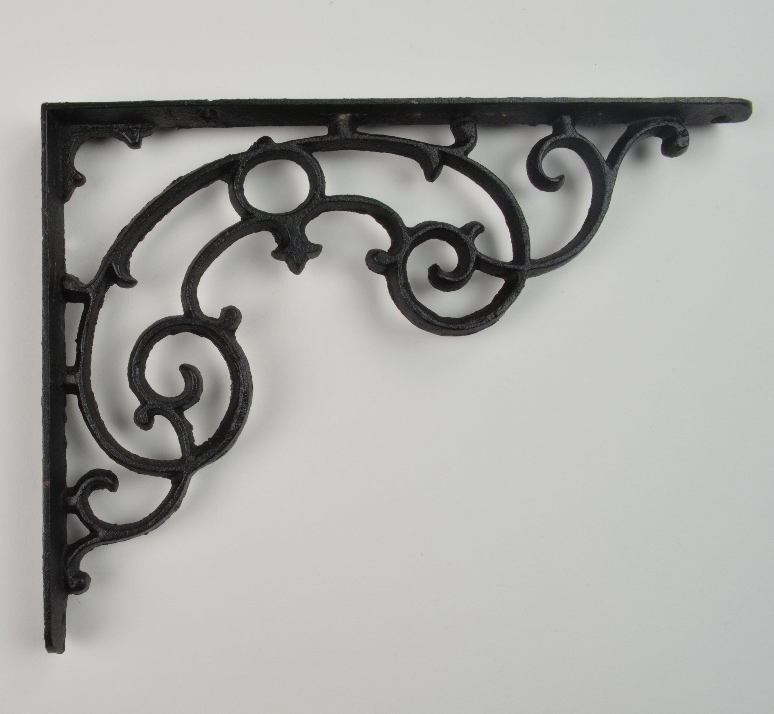 Wall Shelf Bracket - Ornate Pattern - Cast Iron - 11.25'' Long