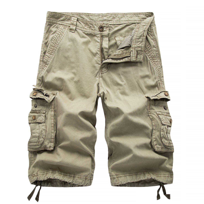 HAKJAY Combat Shorts for Men -Khaki-36