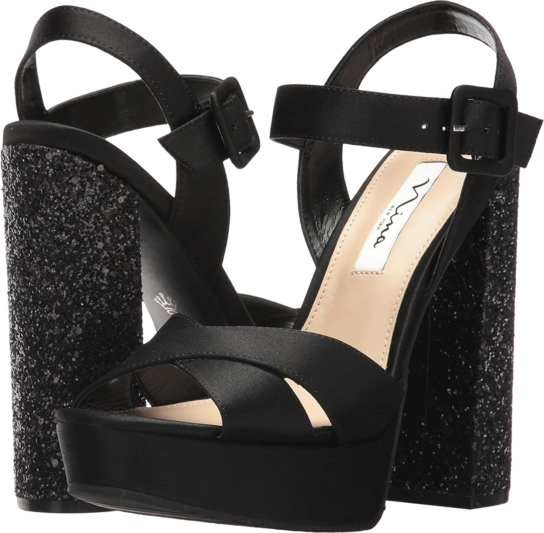 Nina Women's Savita Platform Dress Sandal B072BVSMKH 5.5 B(M) US Black