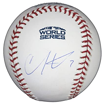 0706a6615ce Image Unavailable. Image not available for. Color  Christian Vazquez Boston  Red Sox Signed Autographed Rawlings 2018 World Series Official Baseball JSA  ...