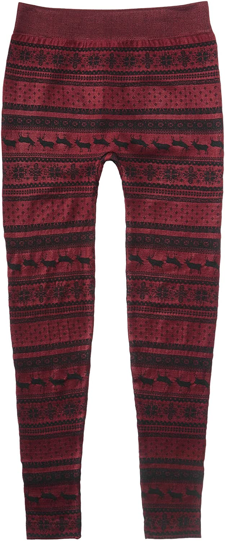 Snowflake Sweater Leggings Burgundy//Nordic Medium 10-12 7-16 PINK ROSE Big Girls