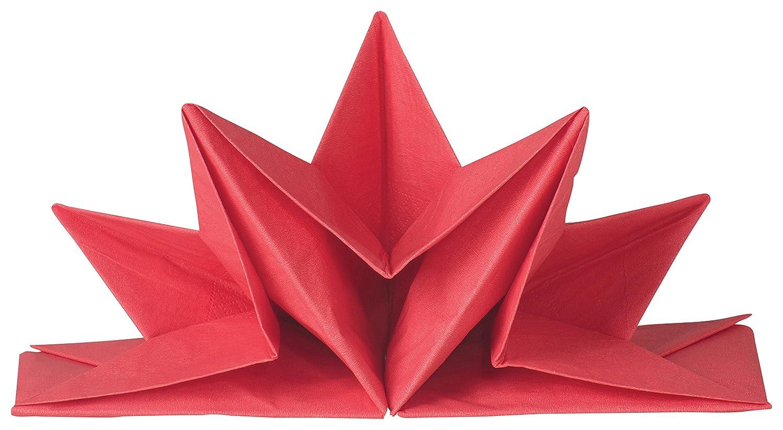Now Designs Oragami Paper Napkins, Red 1782001