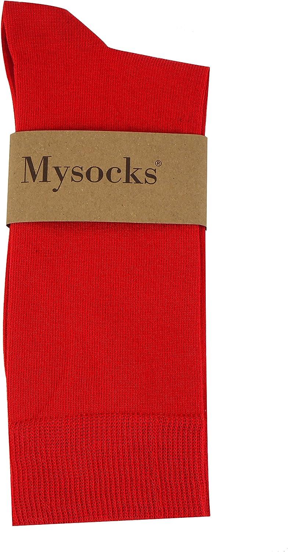 Mysocks unisex 5 Paar Packsocken rot