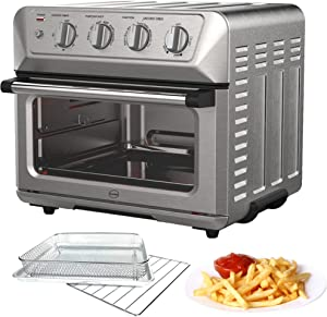 iCucina 1800W Convection Toaster Oven Air-fryer 7-in-1 appliance Toast-Air Technology with Stainless Steel Accessories