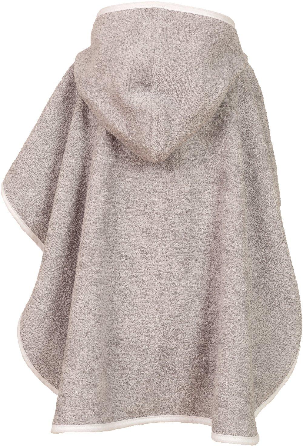 tama/ño aprox Arco Iris // 1/hasta 3/a/ños dise/ño Wolke color gris /Poncho de ba/ño de 100/% algod/ón de rizo Smithy/