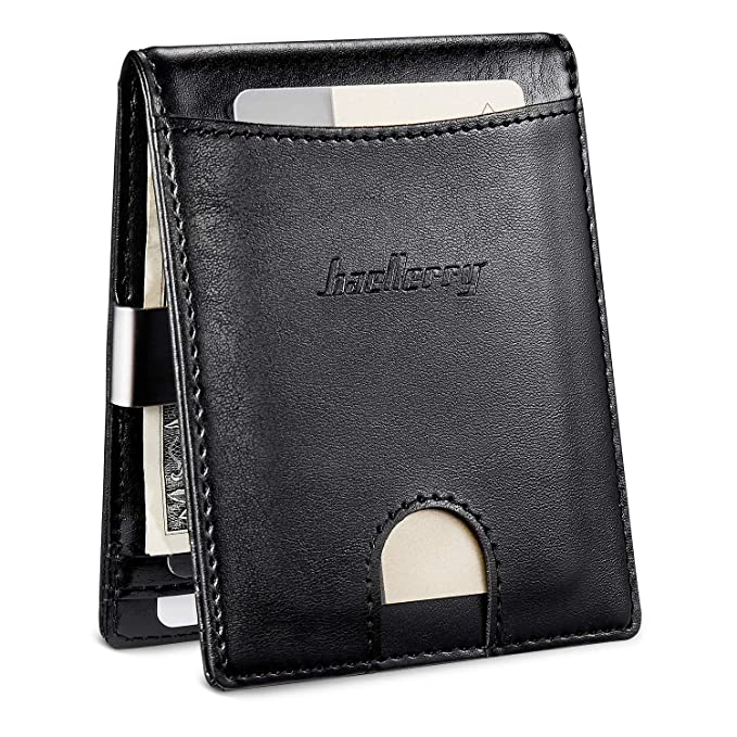 eec09eeba1464 Image Unavailable. Image not available for. Color  Front Pocket Bifold  Wallet With Coin Pocket Minimalist Leather Money Clip Wallet for Men Slim  Card