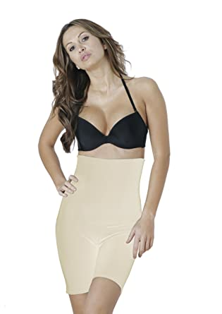 b2c0706749 Dr. Rey Shapewear Womens Firm Control High Waist Shorts Panty - Beige -   Amazon.co.uk  Clothing