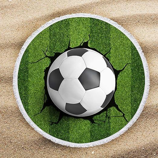 ARIGHTEX - Toalla de Playa Redonda, diseño de balón de fútbol ...
