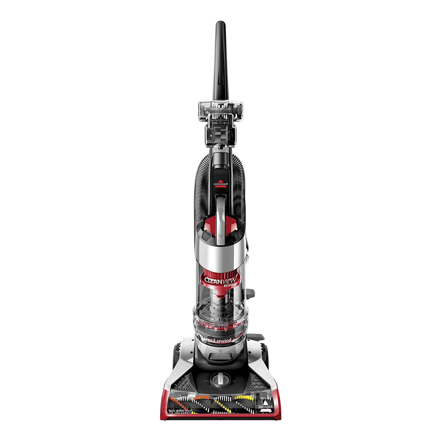 Bissell CleanView Plus Rewind Upright Bagless Vacuum Red