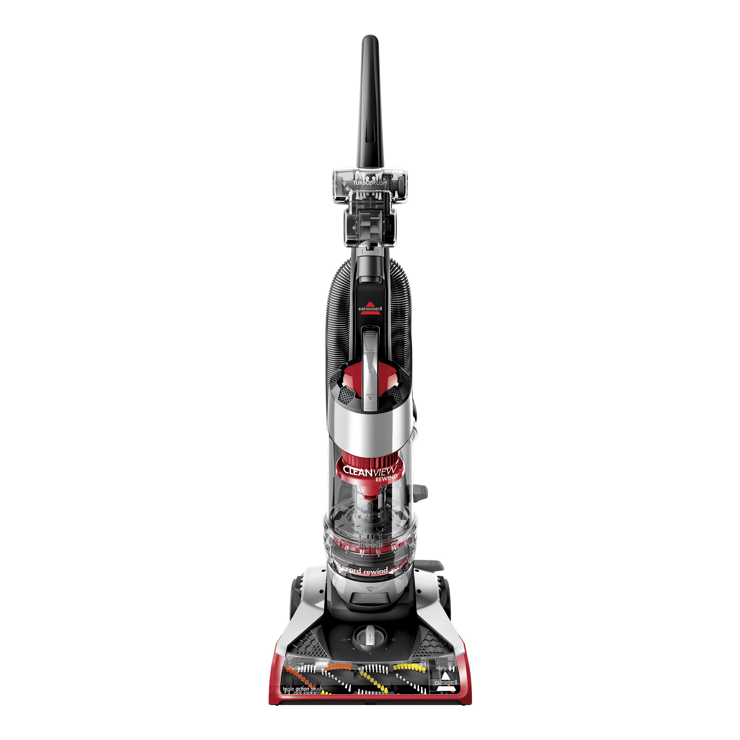 Bissell CleanView Plus Rewind Upright Bagless Vacuum, Red