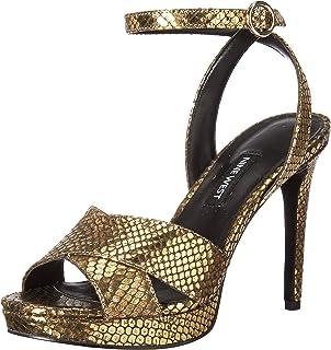 3134cb43f2c Nine West Women s Quisha Metallic Heeled Sandal