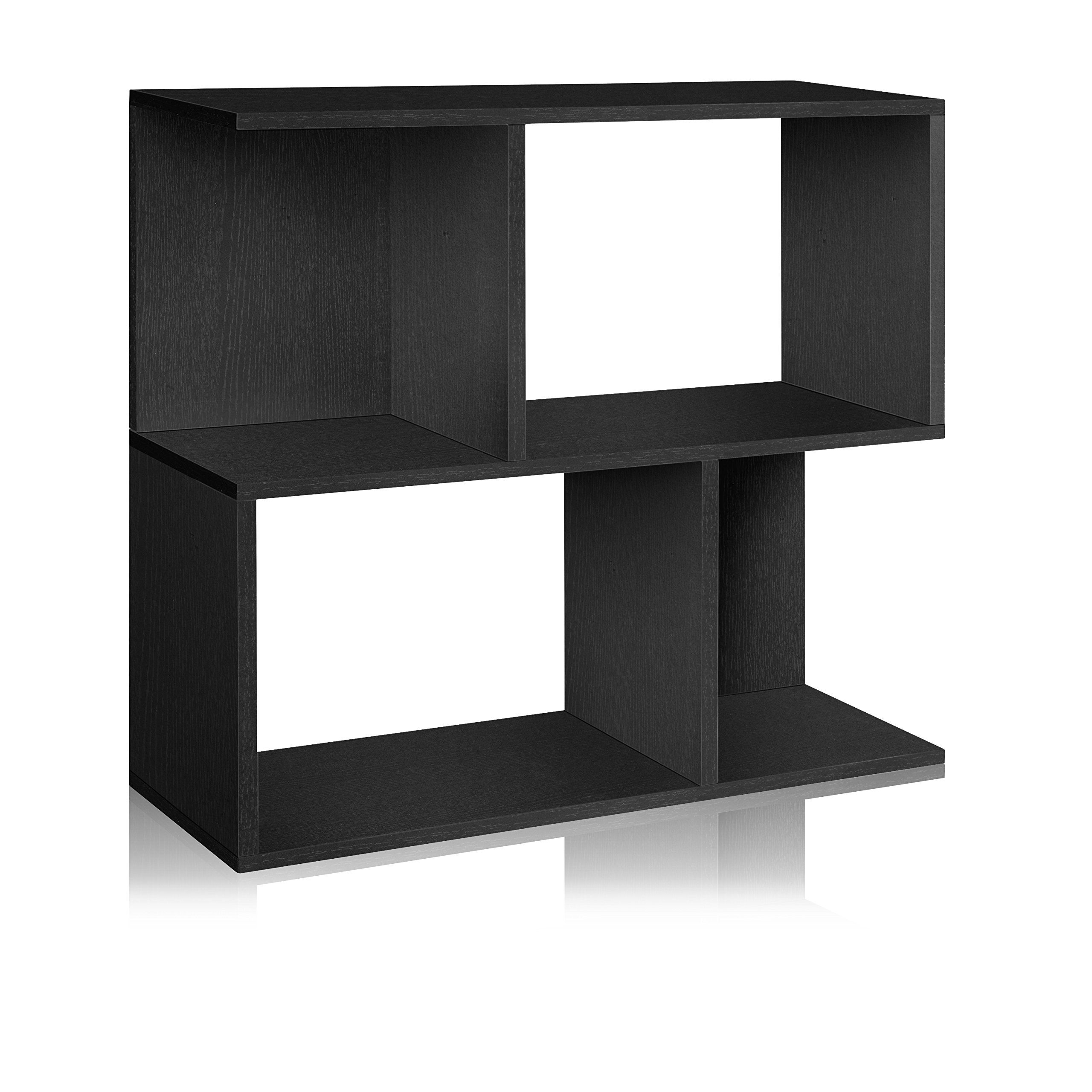 Way Basics Eco Soho Bookcase, Side Table and Storage Shelf, Black (made from sustainable non-toxic zBoard paperboard)